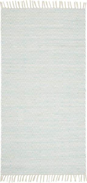 Handwebteppich Mary in Türkis, ca. 60x120cm - Türkis, ROMANTIK / LANDHAUS, Textil (60/120cm) - MÖMAX modern living