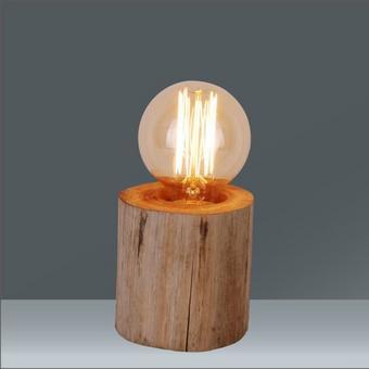Asztali Lámpa Woodi - Natúr/Bézs, Lifestyle, Műanyag/Fa (10/10cm) - Mömax modern living