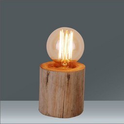 Tischleuchte Woodi in Natur,  max. 60 Watt - Beige/Naturfarben, LIFESTYLE, Holz/Kunststoff (10/10cm) - Mömax modern living