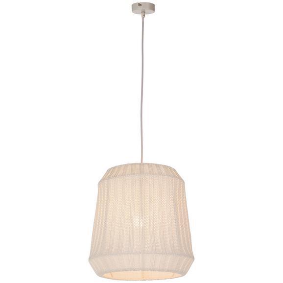 Hängeleuchte Kiana max. 60 Watt - Weiß, ROMANTIK / LANDHAUS, Naturmaterialien/Metall (30/120cm) - Mömax modern living