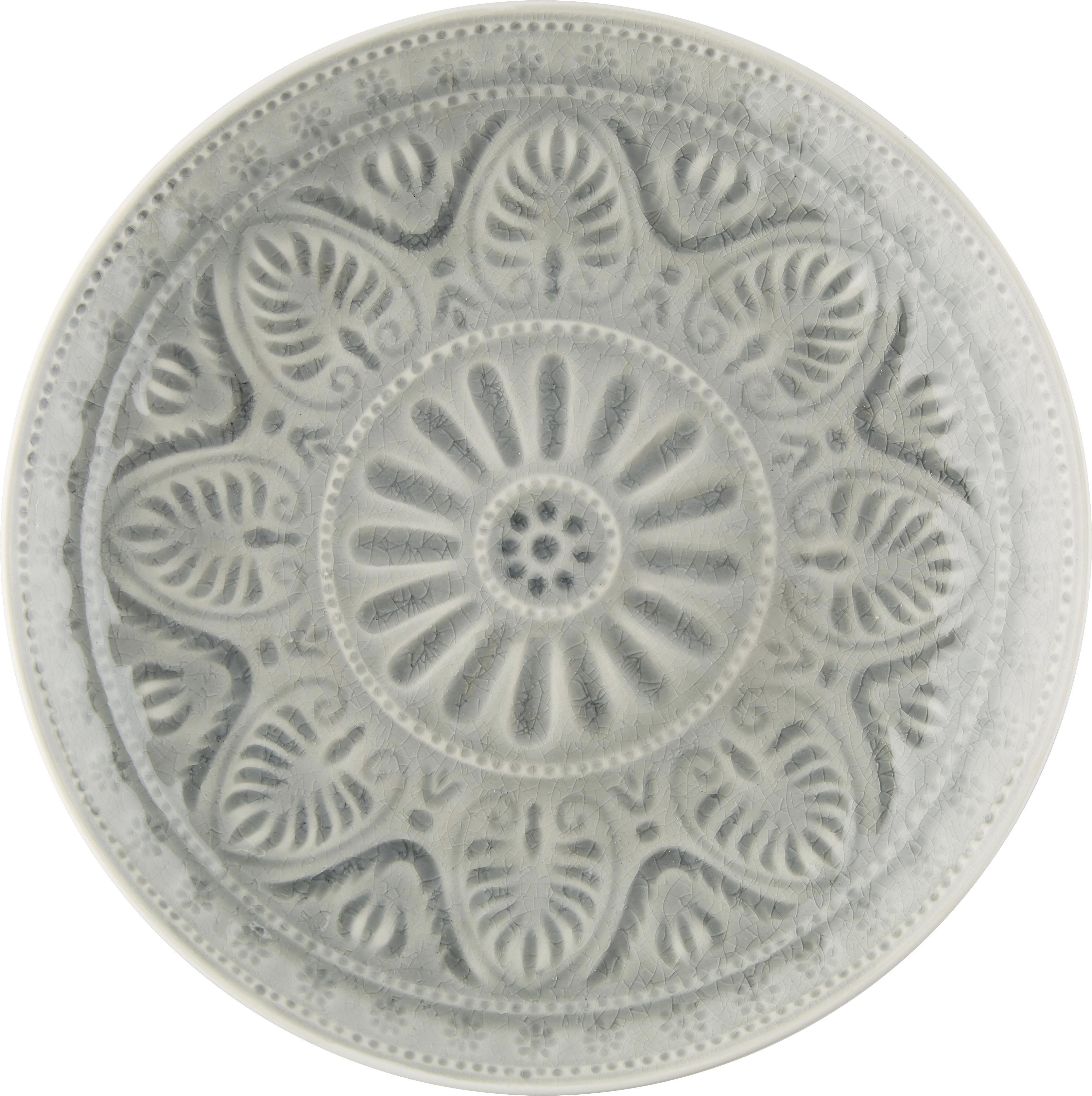 Speiseteller Panja aus Keramik in Grau - Grau, LIFESTYLE, Keramik (26,5/4cm) - MÖMAX modern living