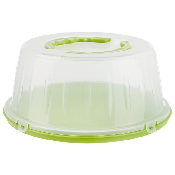 Suport Cu Clopot Pentru Tort Marcel - alb/verde, plastic (33/15cm)
