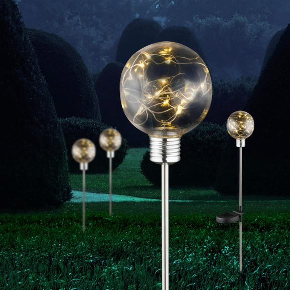 Solarleuchte Sina, max. 0,06 Watt - KONVENTIONELL, Kunststoff/Metall (10/72cm) - MÖMAX modern living