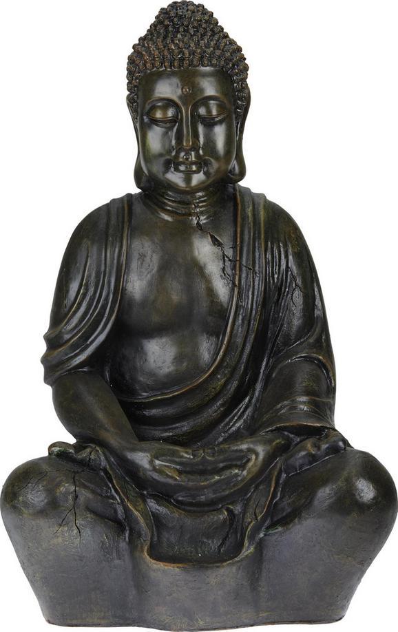 Buddha Manga Rostbraun - Braun, LIFESTYLE, Kunststoff (44/34/68cm) - Mömax modern living