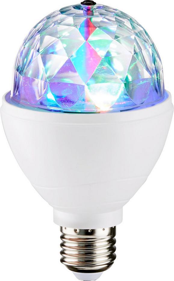 Deko-Leuchtmittel Disco 3 Watt - Klar/Weiß, Kunststoff/Metall (8/8/13cm)