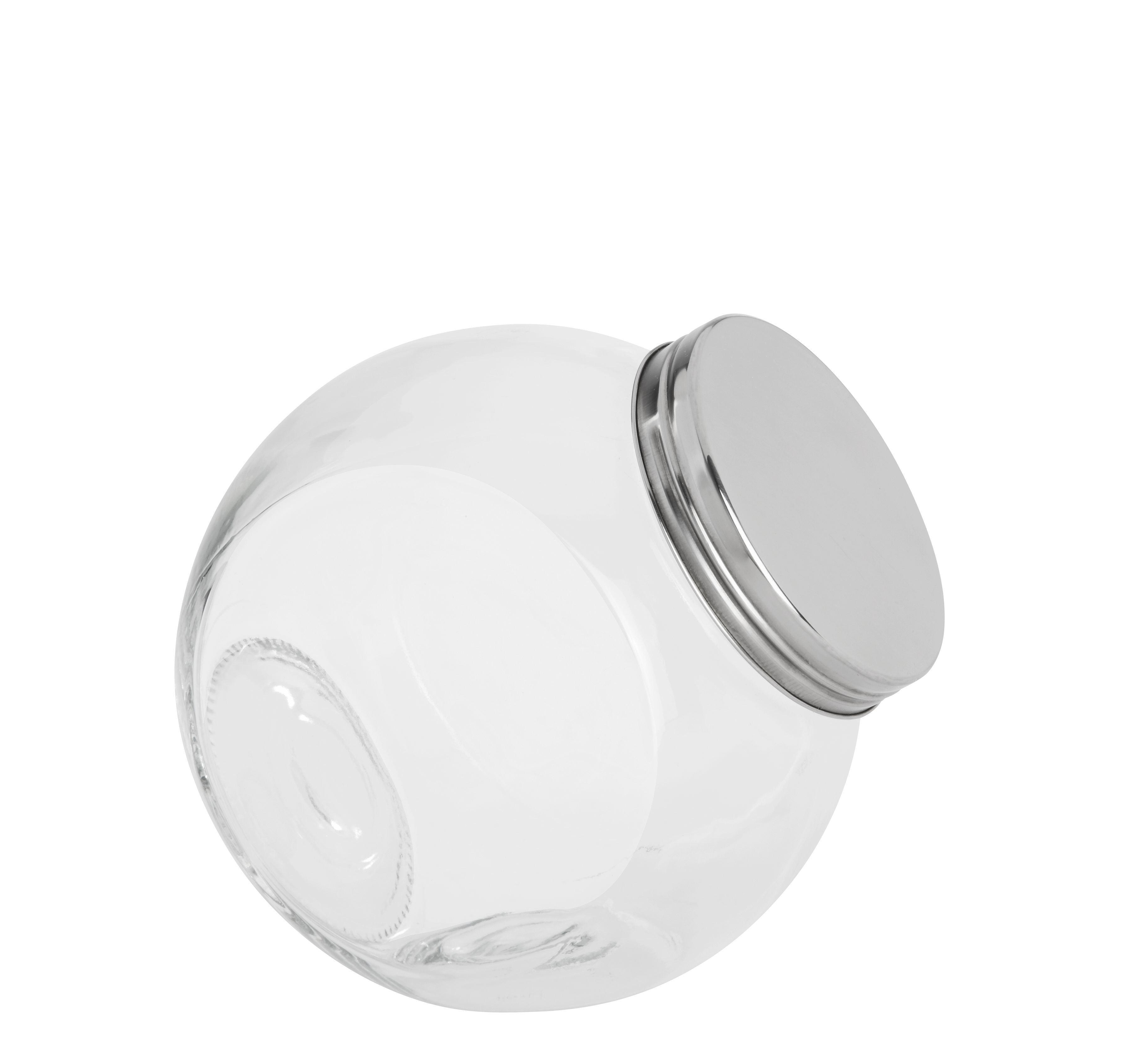 Gewürzglas Antonius aus Glas - Klar/Edelstahlfarben, Glas (16/11/16,5cm) - BASED