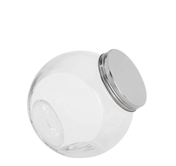 Steklena Posodica Za Začimbe Antonius - prozorna/nerjaveče jeklo, kovina/steklo (16/11/16,5cm) - Based