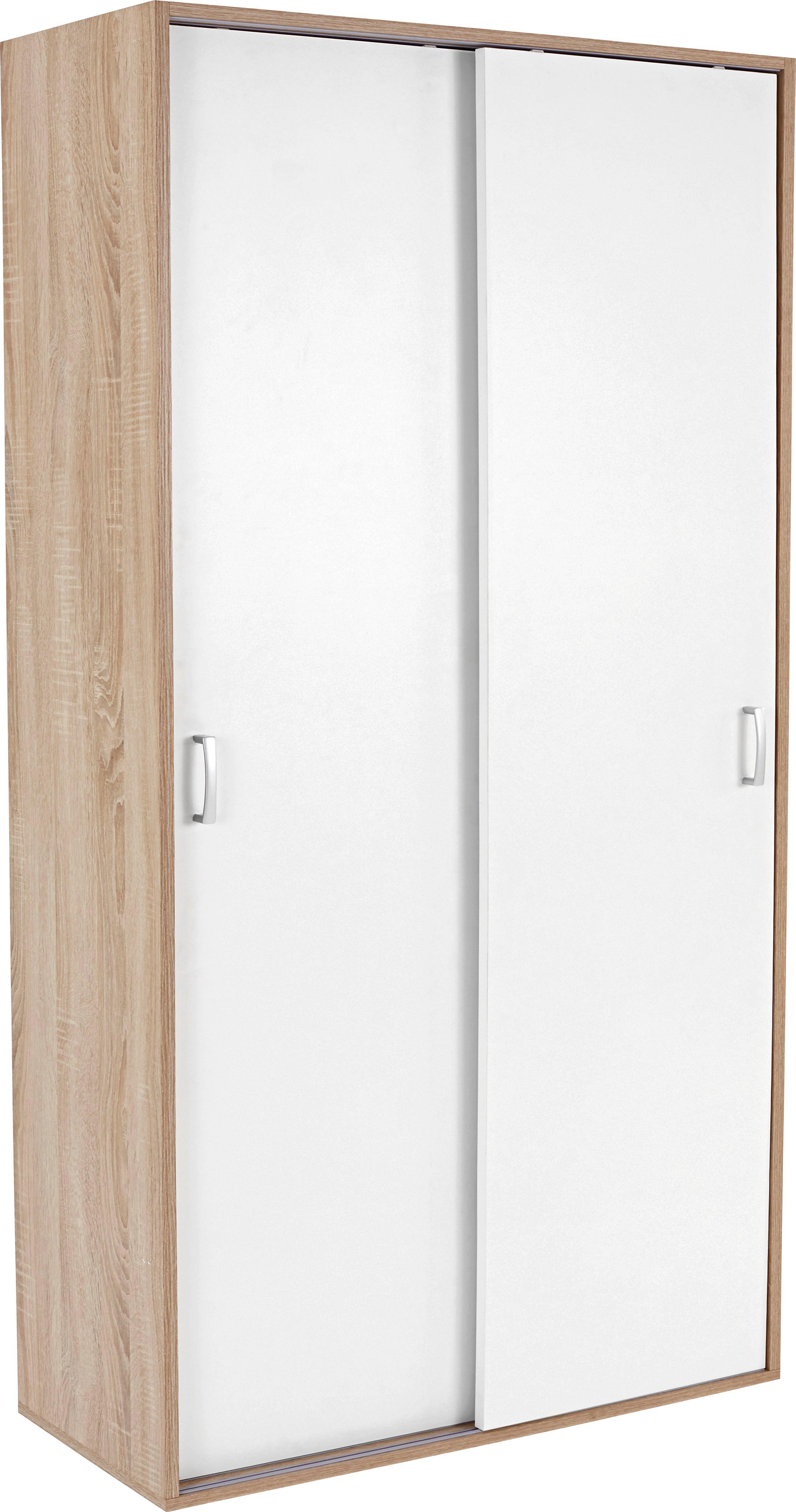Szekrény Tio Typ 13 - tölgy színű/fehér, modern, faanyagok (80/183,1/35,5cm)