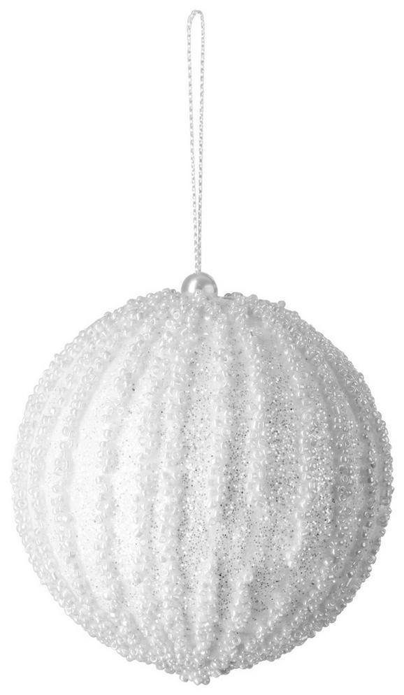 Christbaumkugel Ella Weiß - Weiß, Basics, Kunststoff (8cm)