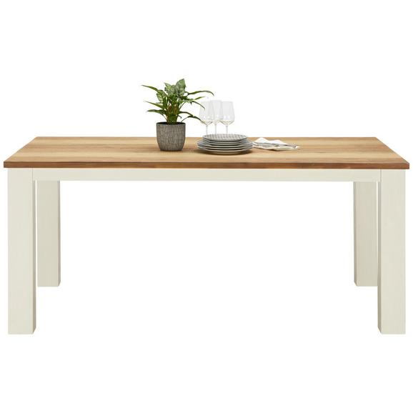 Esstisch aus Akazie Massiv - Multicolor/Braun, ROMANTIK / LANDHAUS, Holz (140/78/90cm) - Premium Living