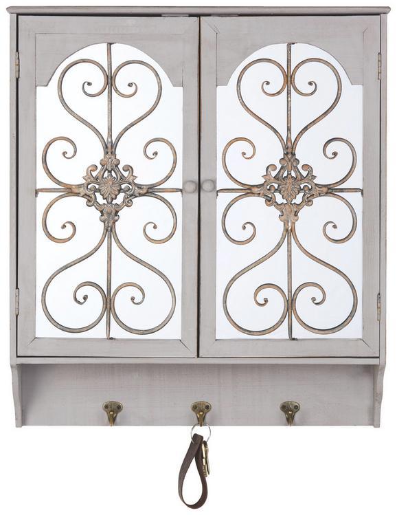 Garderobe Yasmine - Grau, KONVENTIONELL, Holz/Metall (58/65,5/15,5cm) - Premium Living