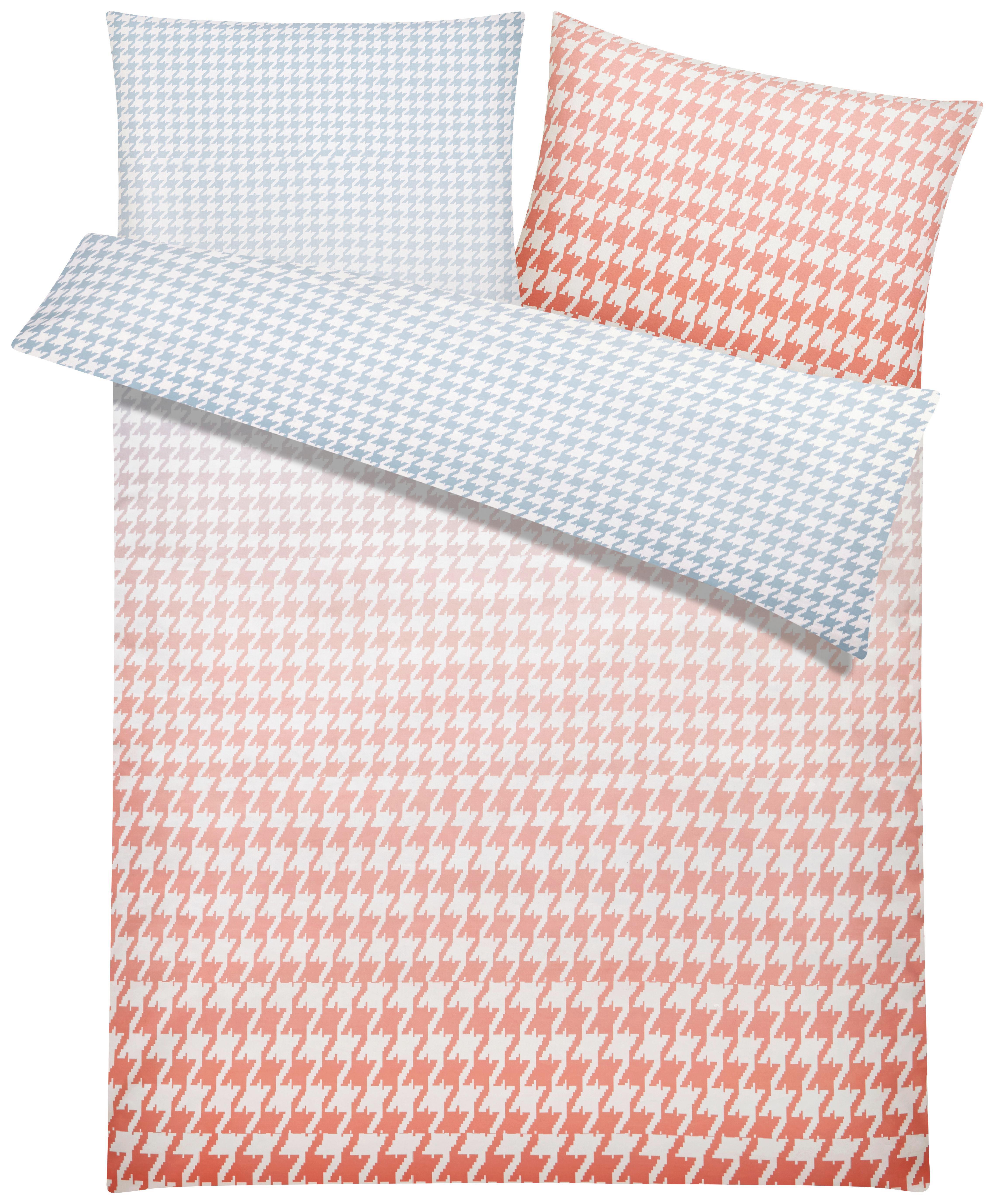 Bettwäsche S. Oliver Baumwollsatin - Rot/Grau, MODERN, Textil - S. OLIVER