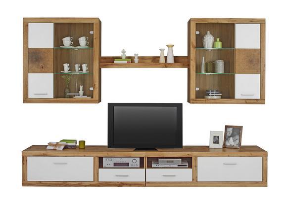 Wohnzimmermöbel weiß eiche  Wohnwand Weiß/Eichefarben online kaufen ➤ mömax