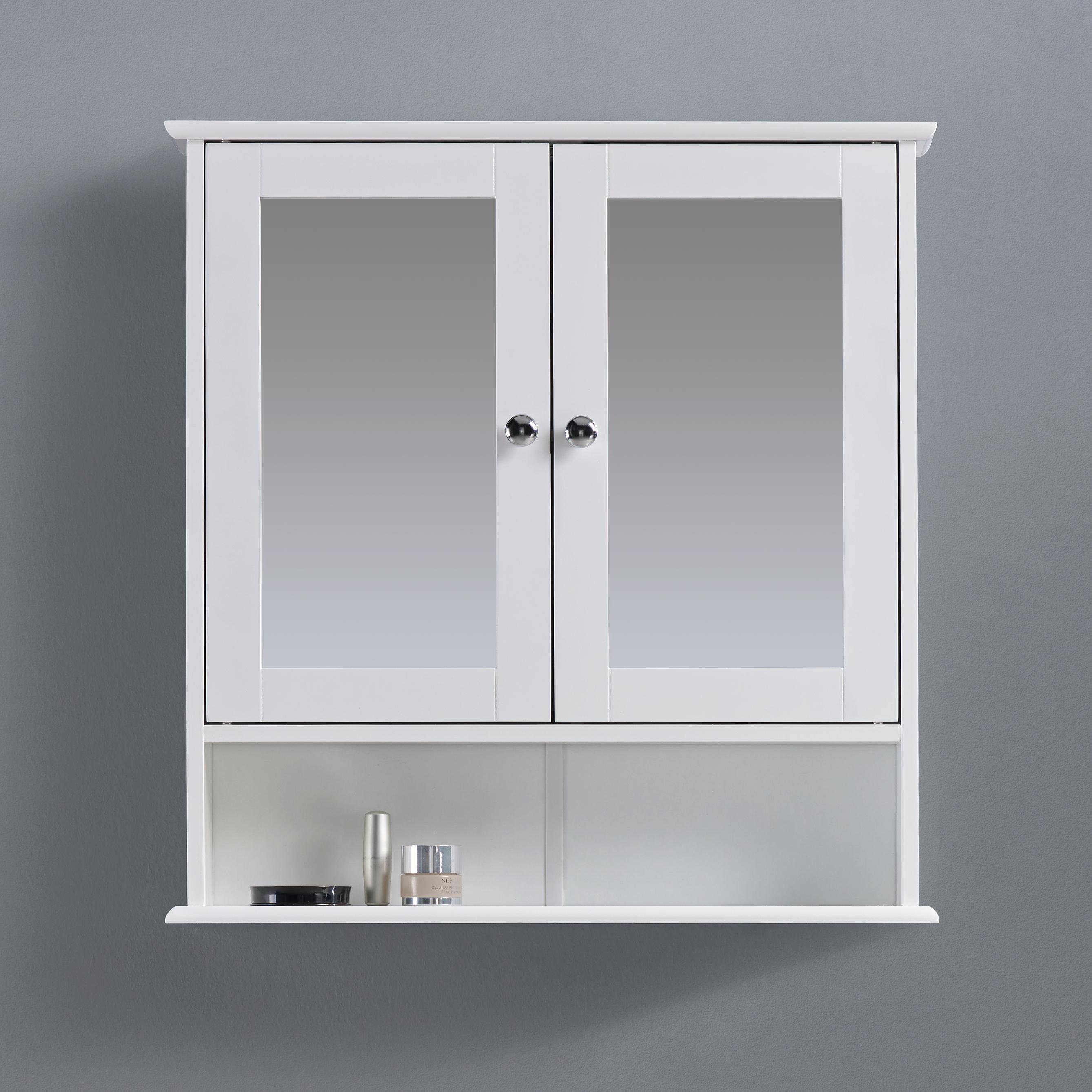 Spiegelschrank Bianca - Weiß, MODERN, Glas/Holz (56/58/13cm) - MÖMAX modern living