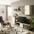 Mobilier Cameră De Zi Viva 21 - stejar Sonoma/alb, Konventionell, plastic/sticlă (218/190/42cm) - Based