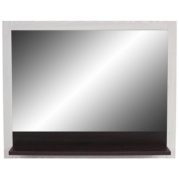Ogledalo Provence - wenge/bela, Moderno, steklo/leseni material (115/93/15cm) - Zandiara