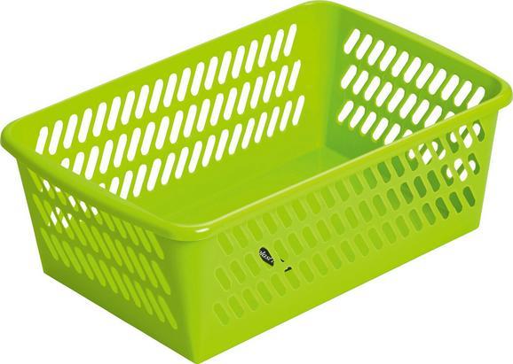 Košara Mimi - svetlo zelena, umetna masa (30,5/11/20cm) - Mömax modern living