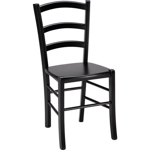 Stuhl in Schwarz aus Echtholz - Schwarz, Holz (43/88/39cm) - Zandiara