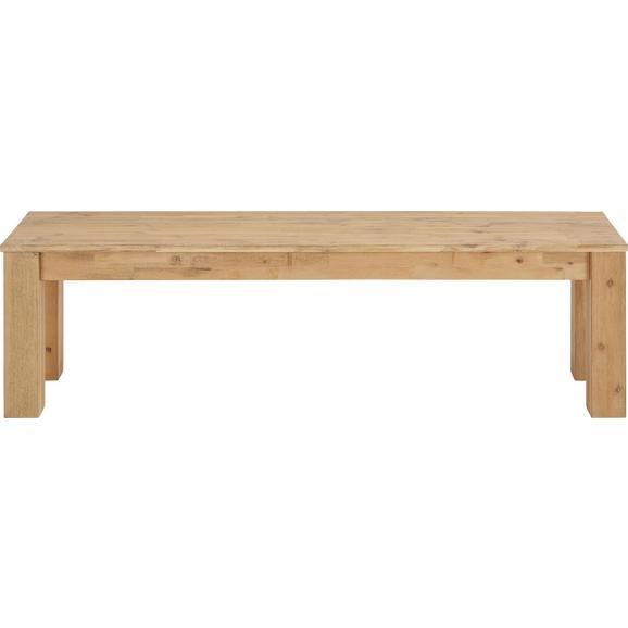 Sitzbank aus Akazie teilmassiv - Akaziefarben, KONVENTIONELL, Holz (160/45/40cm) - Zandiara