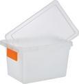 Doboz Tetővel Írható Kártyával - Áttetsző, konvencionális, Műanyag (23,3/15,3/13,8cm) - Mömax modern living