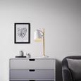 Tischleuchte max. 60 Watt 'Marco' - Weiß, MODERN, Holz/Metall (20/20/52cm) - Bessagi Home