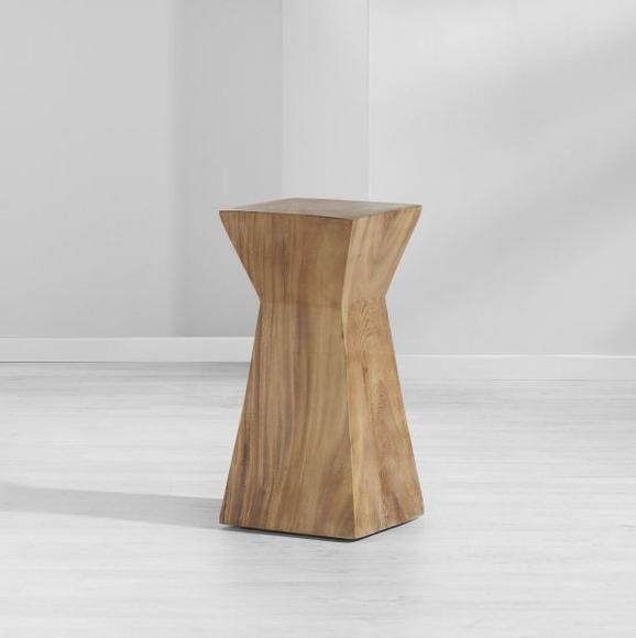Hocker Jepe - Braun, MODERN, Holz (24/50/24cm) - MÖMAX modern living