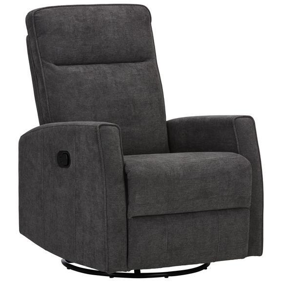 Relaxsessel in Grau - Schwarz/Grau, MODERN, Textil/Metall (76/103/96cm) - Modern Living