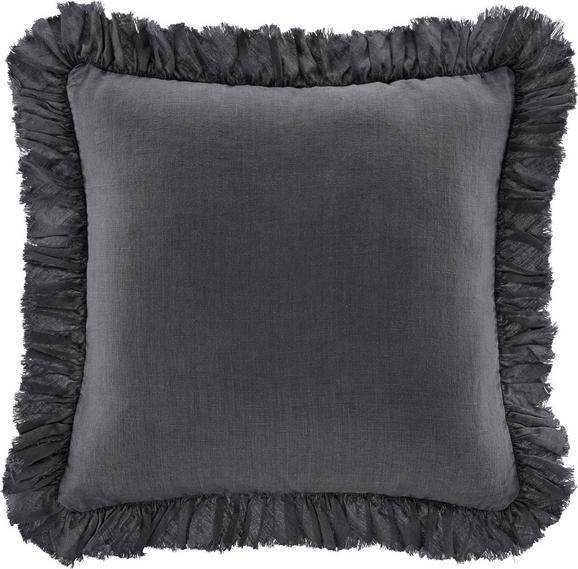 Zierkissen Pascaline 45x45cm - Dunkelgrau, MODERN, Textil (45/45cm) - MÖMAX modern living