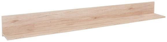 Poliță De Perete Malta - Culoare stejar, Modern, Compozit lemnos (180/18/20cm)