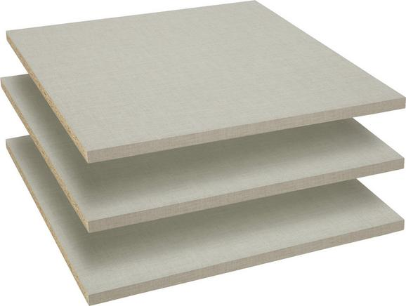 Set Polic Dodatki - siva, leseni material (43/1,6/48cm) - Modern Living