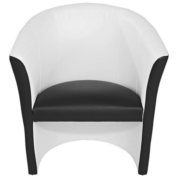 Fotelja Rainbow - bijela/crna, Modern (69/76/59cm) - Ombra