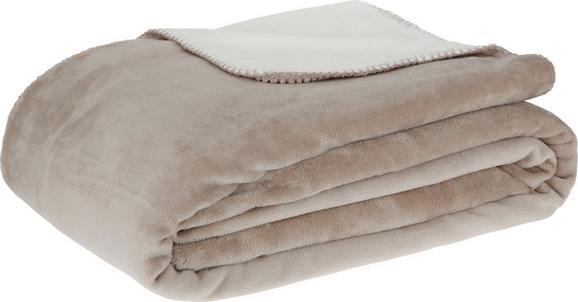 Kuscheldecke XXL Like Wende in Weiß/taupe - Taupe/Weiß, Textil (220/240cm) - MÖMAX modern living