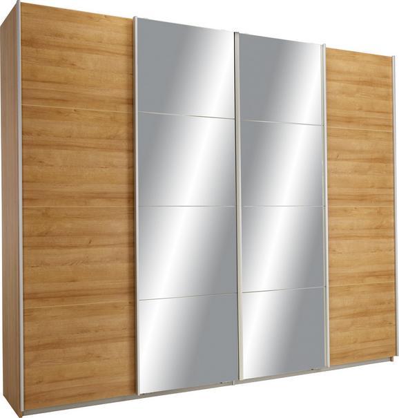 Schwebetürenschrank Eichefarben/spiegel - Eichefarben, KONVENTIONELL, Holzwerkstoff (271/230/62cm) - Modern Living