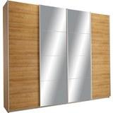 Schwebetürenschrank in Eichefarben mit Spiegel - Eichefarben, KONVENTIONELL, Holzwerkstoff (271/230/62cm) - Modern Living
