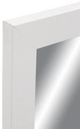 Stensko Ogledalo White Shine -sb- - bela, Moderno, steklo/leseni material (30/50cm)