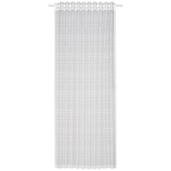 Schlaufenvorhang Theresa Weiß ca.140x245cm - Weiß, Textil (140/245cm) - Mömax modern living