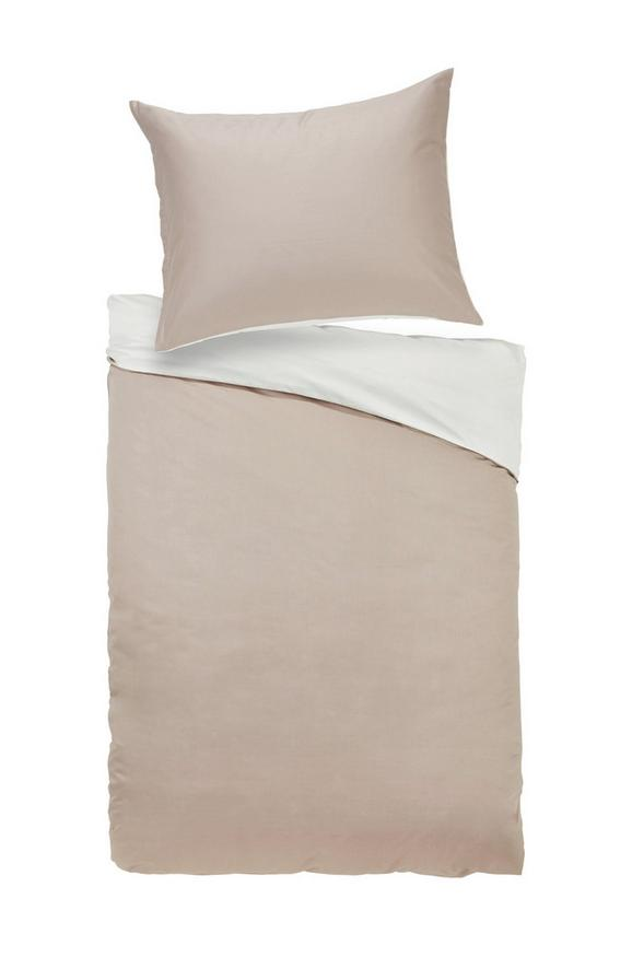 Bettwäsche Belinda Creme/sand 140x220cm - Sandfarben/Creme, Textil (140/220cm) - Premium Living