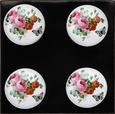 Möbelknopf Rose in Rosa/Weiß/Schwarz - Rosa/Weiß, ROMANTIK / LANDHAUS, Keramik (3,5/6,5cm) - Mömax modern living