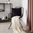 Pernă Decorativă Zippmex - negru, textil (50/50cm) - Modern Living