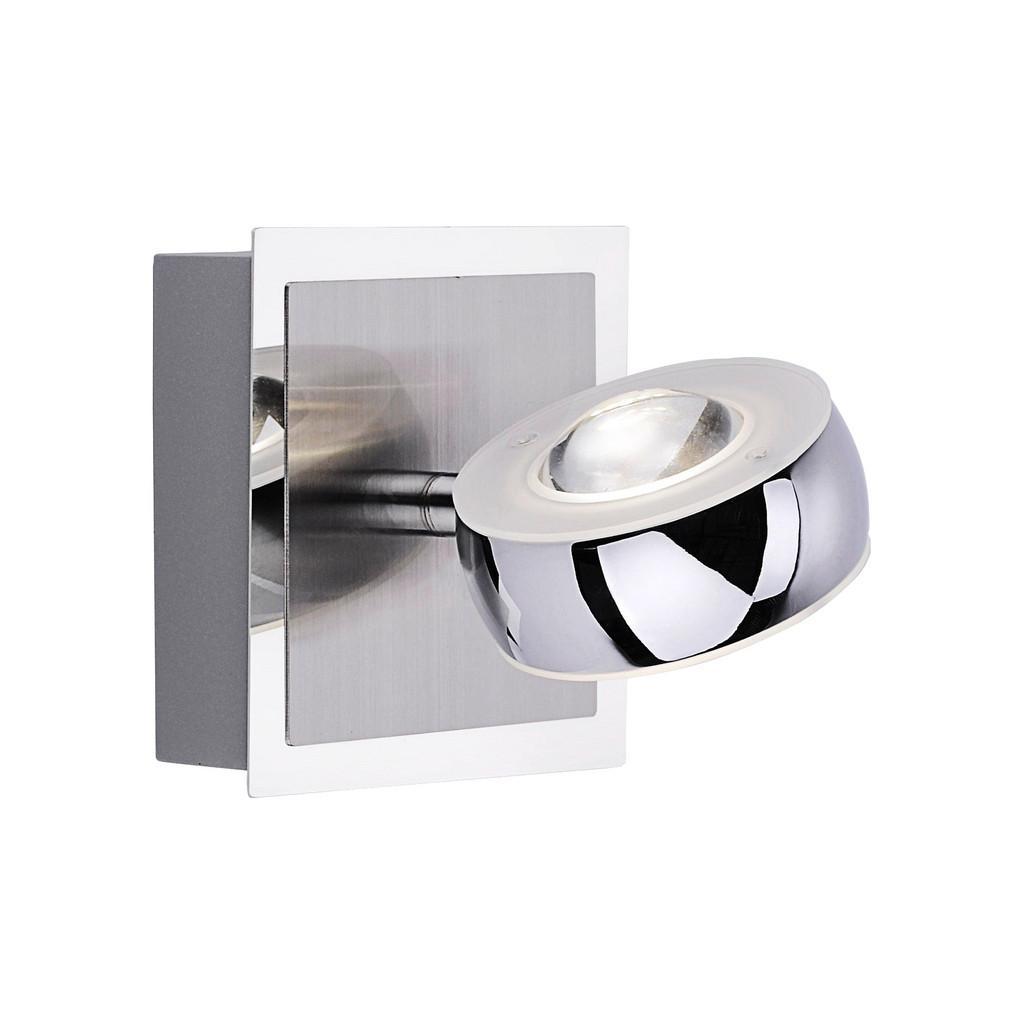 LED-Wandleuchte Opti in Silberfarben max.3Watt