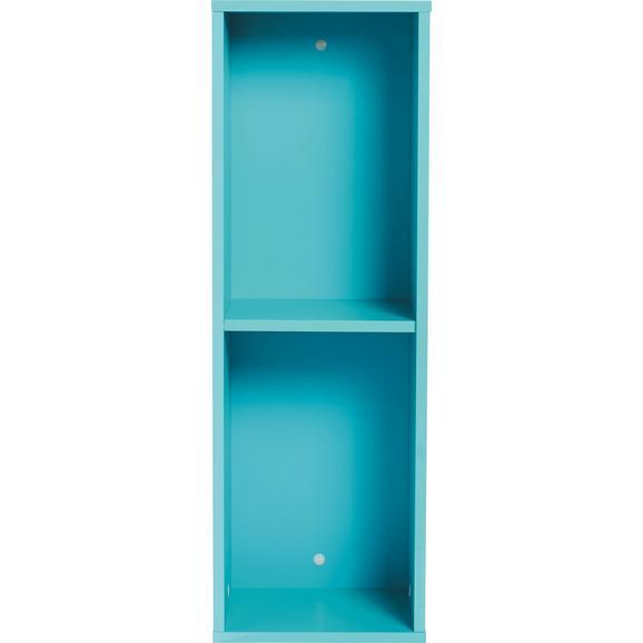 Stenski Regal Match Turkizna - svetlo modra, Moderno, leseni material (90/30/26cm) - Mömax modern living