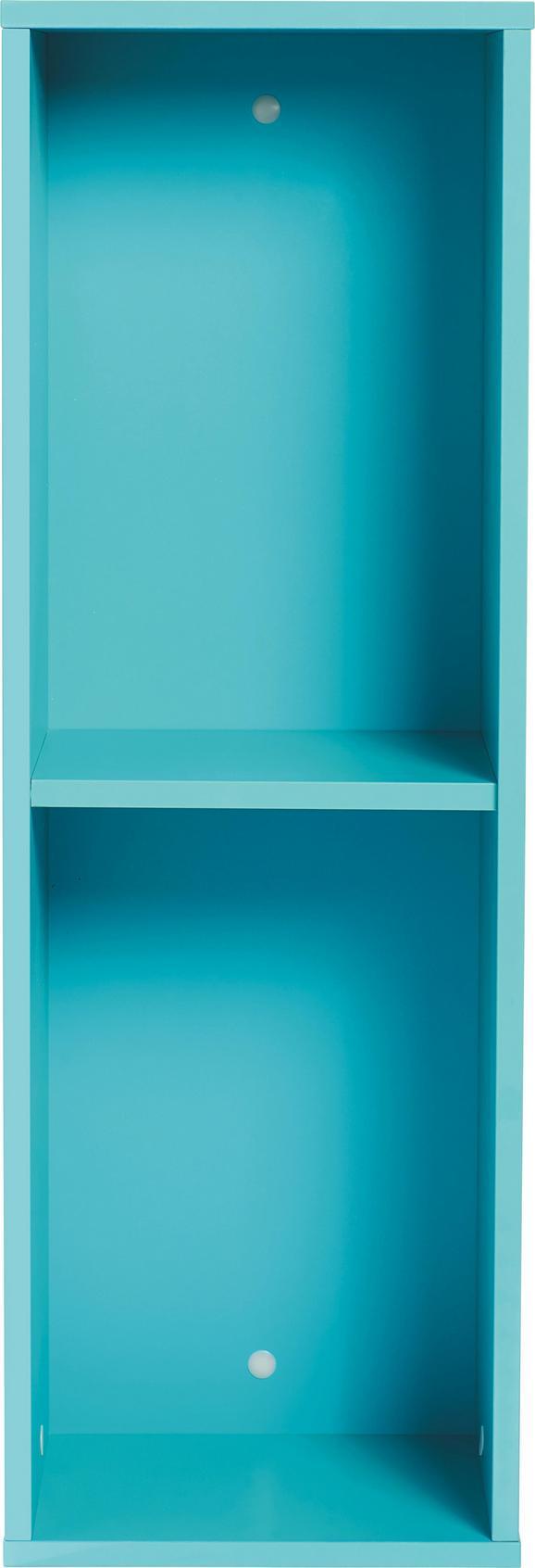 Wandregal Hellblau - Hellblau, MODERN, Holzwerkstoff (90/30/26cm) - Mömax modern living