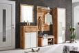 Garderobenschrank Weiß/Eiche - Eichefarben/Silberfarben, MODERN, Holzwerkstoff/Kunststoff (75/202/38cm) - Premium Living
