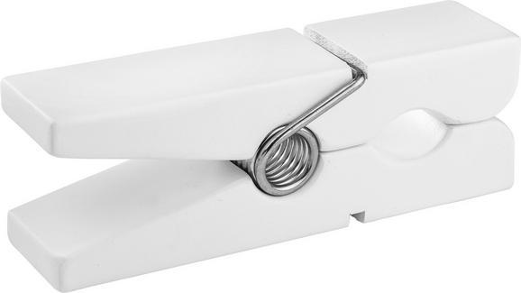 Wandhalter Gams Weiß - Weiß, Holz (20/5/7,5cm) - Mömax modern living