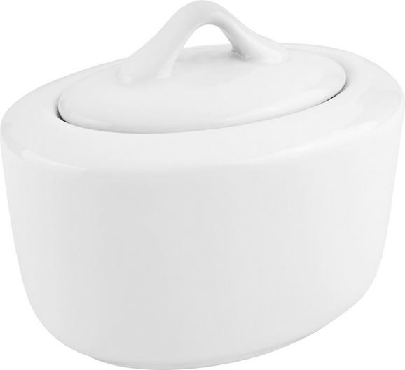 zuckerdose Adria Weiß - Weiß, KONVENTIONELL, Keramik (14/9,5cm) - Mömax modern living