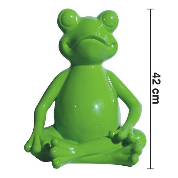 Dekofrosch Froggy H ca. 42 cm - Grün, LIFESTYLE, Kunststoff (34/33/42cm) - Bessagi Home