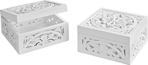 Dekobox Krishna aus Echtholz - Weiß, ROMANTIK / LANDHAUS, Holz/Holzwerkstoff (20/20/10cm) - Mömax modern living