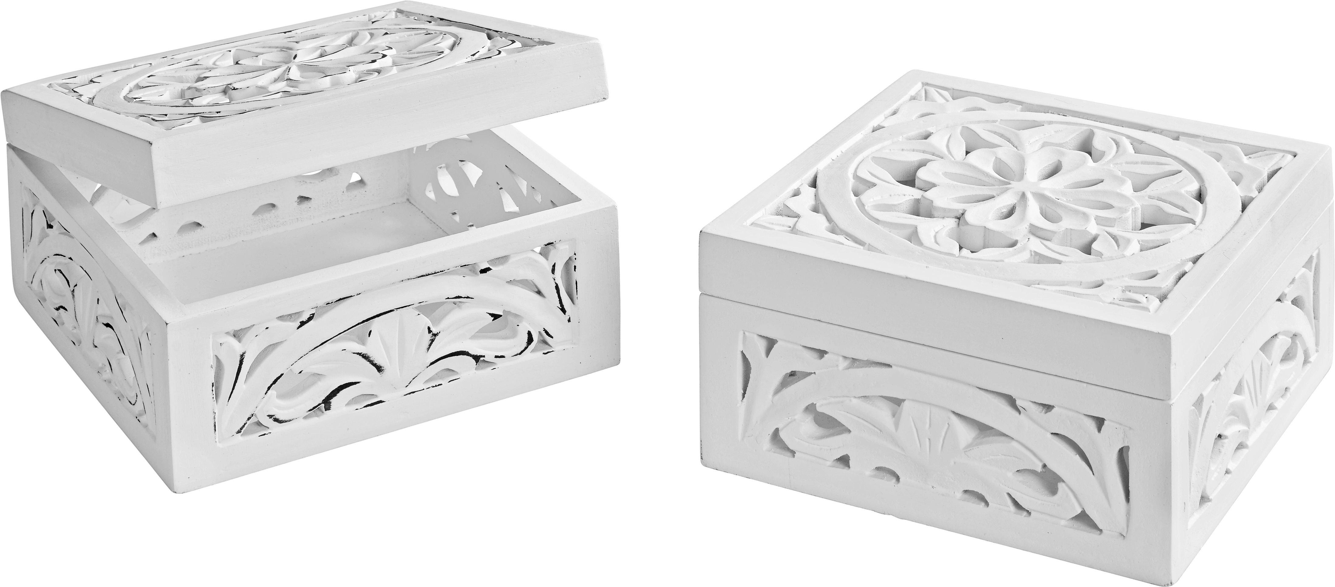 Dekor Doboz Krishna - fehér, romantikus/Landhaus, fa/faanyagok (20/20/10cm) - MÖMAX modern living