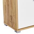 Dulap Pentru Acte Profi - alb/culoare lemn stejar, Modern, compozit lemnos (75/113/35cm) - Ombra