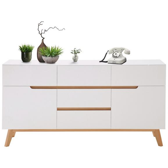 sideboard in wei aus echtholz online kaufen m max. Black Bedroom Furniture Sets. Home Design Ideas